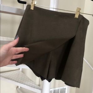 Dress Forum Skirts - olive green suede skort SMALL